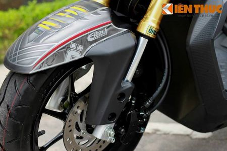 """Can canh scooter Honda Zoomer X """"banh beo"""" doc nhat VN - Anh 4"""