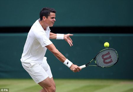 Federer 3-6, 5-5 Raonic: Loi the cho 'toa thap' Canada - Anh 1
