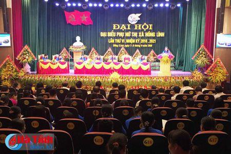 To chuc thanh cong Dai hoi Hoi LHPN thi xa Hong Linh - Anh 1