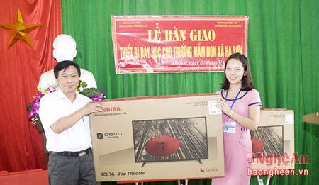 Tang thiet bi day hoc tri gia gan 60 trieu dong cho Truong mam non xa Ha Son - Anh 1