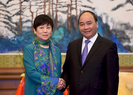 Thu tuong tiep Hoi Huu nghi doi ngoai nhan dan Trung Quoc va Hoi Huu nghi Trung-Viet - Anh 1