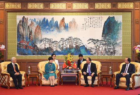 Thu tuong tiep Hoi Huu nghi doi ngoai nhan dan Trung Quoc va Hoi Huu nghi Trung-Viet - Anh 2