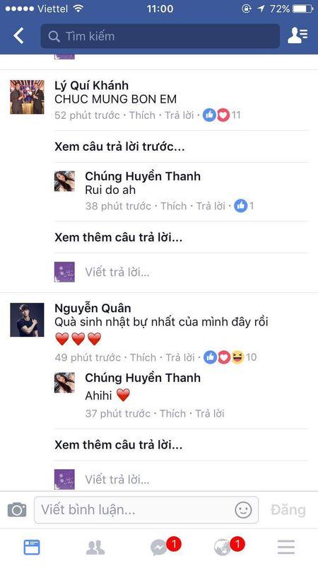 Chung Huyen Thanh lan dau cong khai ban trai tren facebook - Anh 4