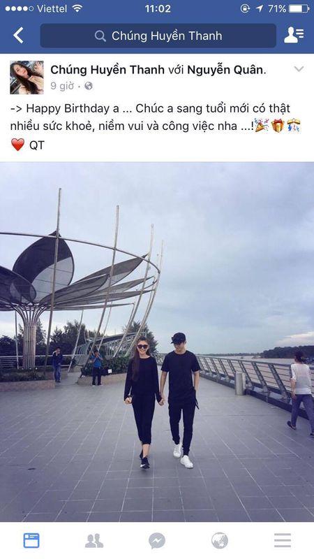 Chung Huyen Thanh lan dau cong khai ban trai tren facebook - Anh 5