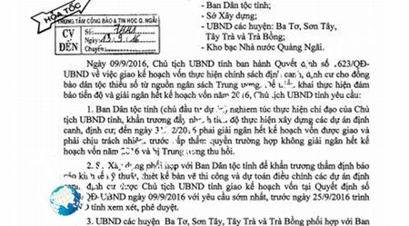 Tinh Quang Ngai hoi 'tieu' het ngan sach keo 'bi Trung uong thu hoi' - Anh 1