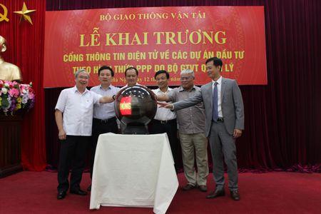 Bo GTVT khai truong Cong thong tin dien tu ve cac du an BOT - Anh 1