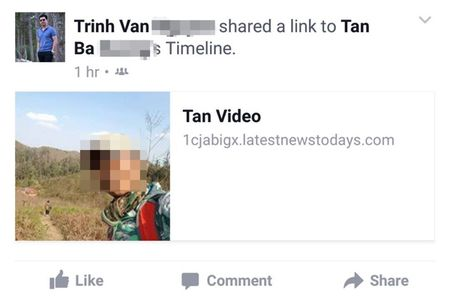 Nhieu tai khoan Facebook tai Viet Nam dinh virus, chia se link video doc hai tran lan - Anh 2