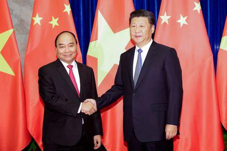 Thu tuong Nguyen Xuan Phuc hoi kien Chu tich TQ Tap Can Binh - Anh 1
