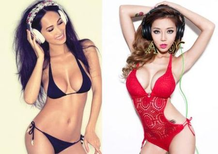 DJ sexy nhat chau A Angie Vu Ha ket hop voi DJ nong bong Leng Yein - Anh 1