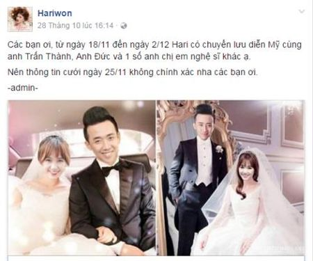 Hari cuoi Tran Thanh: Phu nhan van di dat do cuoi - Anh 1