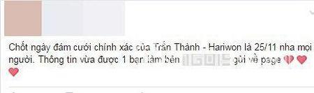 Hari cuoi Tran Thanh: Phu nhan van di dat do cuoi - Anh 2