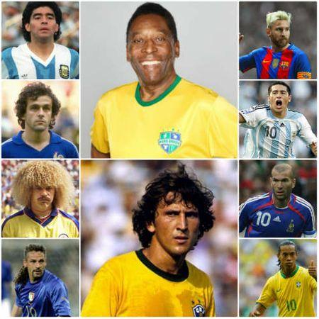 "Top ""so 10"" vi dai nhat: Pele so 1, Messi xep cuoi - Anh 1"