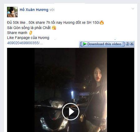 Thach thuc ca Sai Gon, Ho Xuan Huong hua dot xe SH bang tro cau like - Anh 2