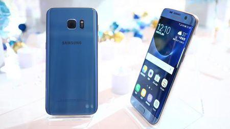 Galaxy S7 edge xanh san ho ra mat tai chau A - Anh 1