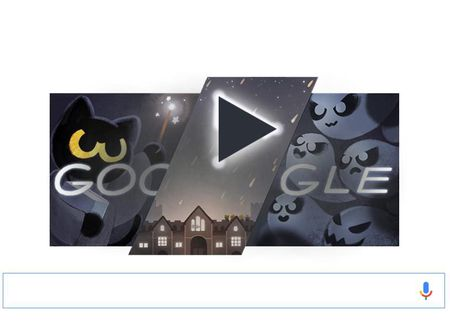 Cach choi game ma tren Google Doodle Halloween 2016 - Anh 1