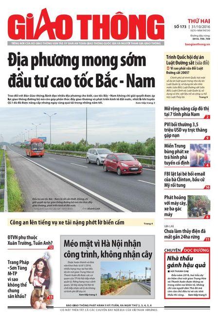 Tin tuc moi nhat, dac sac nhat tren Bao Giao thong 31/10 - Anh 1