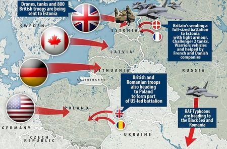NATO rao riet dieu binh ap sat bien gioi Nga - Anh 1