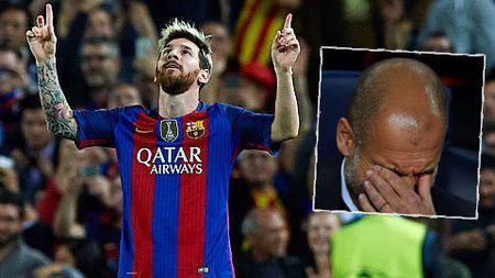 Pep Guardiola: 'Messi co tai nhin xuyen thau. Aguero cung dang cap voi MSN' - Anh 1