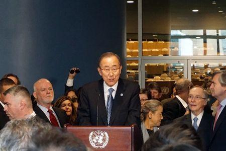 Tong thu ky Ban Ki-moon phat bieu tu biet Lien Hop Quoc - Anh 1