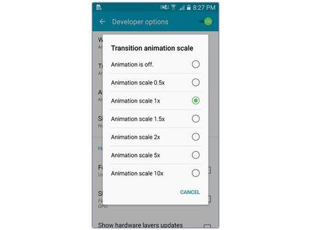 Tang toc smartphone Android hieu qua bang cach vo hieu hoa animation - Anh 3