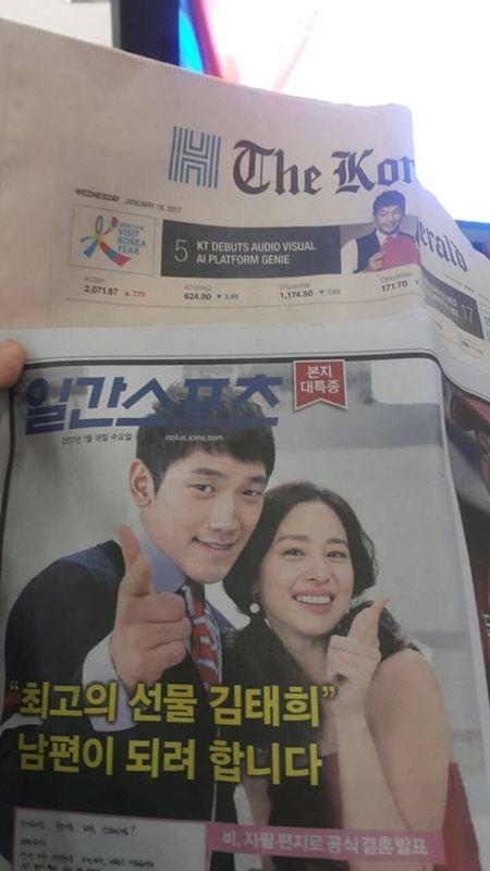 Truc tiep dam cuoi Bi Rain va Kim Tae Hee: Co dau xuat hien an tuong - Anh 1