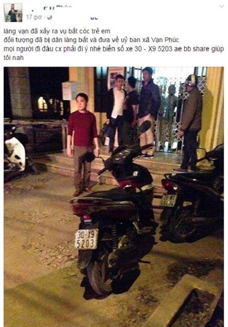 Ha Noi: Xuat hien doi tuong la du do cho keo va hua dua tre di an nha hang - Anh 1