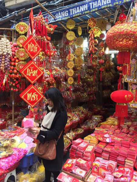 Pho Hang Ma lung linh don Tet Dinh Dau 2017 - Anh 1