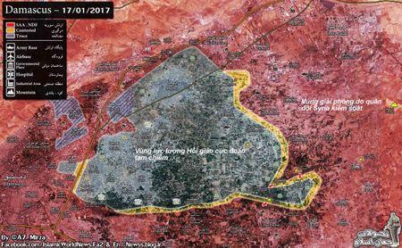 Chien su Syria: Quan Assad sap de bep phien quan 2 thi tran ngoai vi Damascus - Anh 2