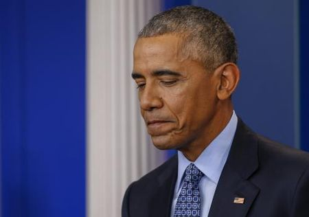 Tong thong My B. Obama nghen loi trong cuoc hop bao cuoi cung - Anh 1