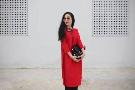 Thanh Hang 'ngung nguay' trong thiet ke ao dai dang yeu muon xiu! - Anh 7