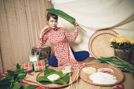 Kim Ngan Vietnam's Next Top Model tao hinh khac la trong ta ao dai - Anh 1