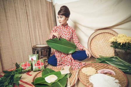 Kim Ngan Vietnam's Next Top Model tao hinh khac la trong ta ao dai - Anh 2