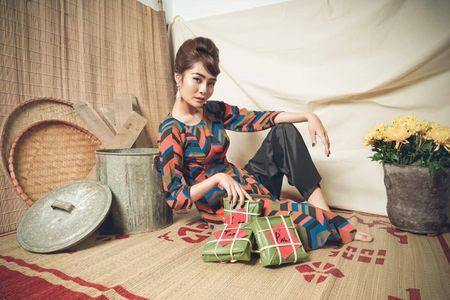 Kim Ngan Vietnam's Next Top Model tao hinh khac la trong ta ao dai - Anh 3