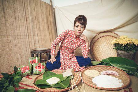 Kim Ngan Vietnam's Next Top Model tao hinh khac la trong ta ao dai - Anh 4