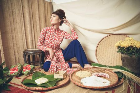 Kim Ngan Vietnam's Next Top Model tao hinh khac la trong ta ao dai - Anh 5
