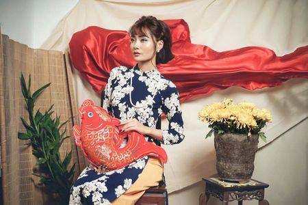 Kim Ngan Vietnam's Next Top Model tao hinh khac la trong ta ao dai - Anh 8