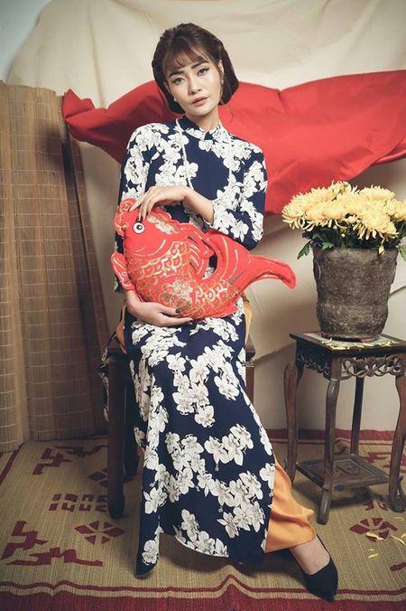 Kim Ngan Vietnam's Next Top Model tao hinh khac la trong ta ao dai - Anh 9