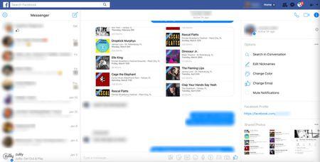 Facebook thay the hop thu den bang giao dien Messenger ban web - Anh 1