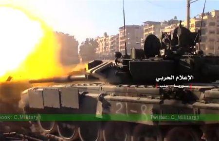 Nghi van tang T-90K bi ha o Syria - Anh 1