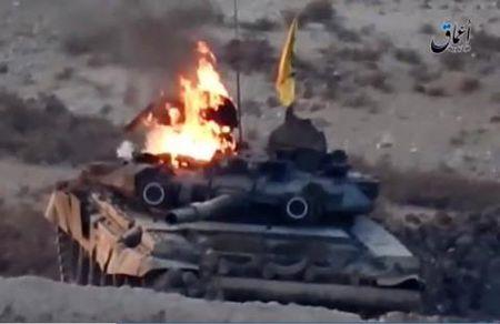 Nghi van tang T-90K bi ha o Syria - Anh 2