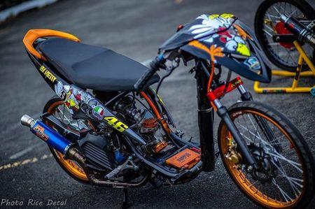 Dan choi Viet do Yamaha Luvias thanh 'xe dau' drag khung - Anh 8