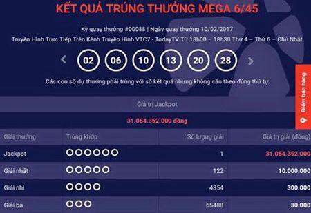 Trung ve so Vietlott 31 ti dong - Anh 1