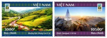 Ve dep Lao Cai - Tay Bac qua bo tem buu chinh nam du lich quoc gia 2017 - Anh 2