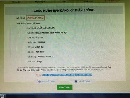 Trien khai 13 dich vu dang ky phuong tien qua mang Internet - Anh 2