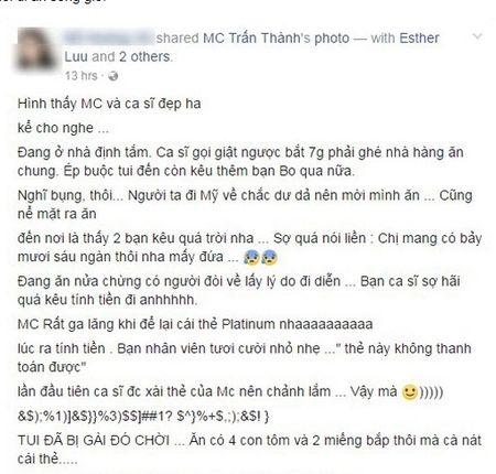 Thu nhap tien ti, Hari Won - Tran Thanh lai mat mat vi tien le - Anh 5