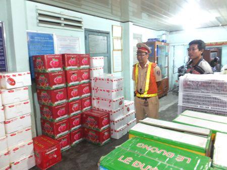 CSGT bat xe cho hang tram thung trai cay Trung Quoc khong hoa don - Anh 2