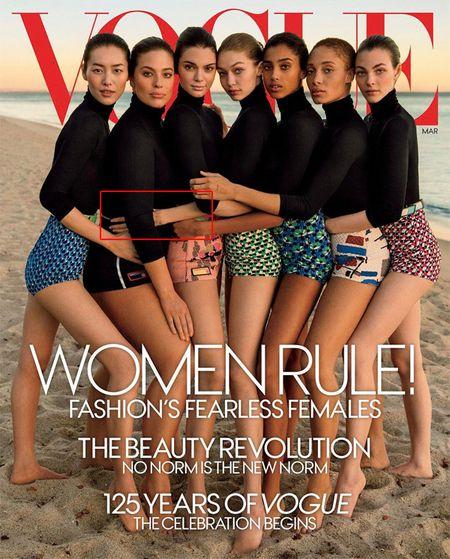 Tap chi Vogue bi chi trich vi photoshop qua da - Anh 1