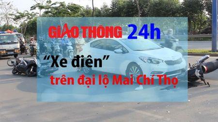 Tin giao thong 24h: 'Xe dien' tren dai lo Mai Chi Tho - Anh 1