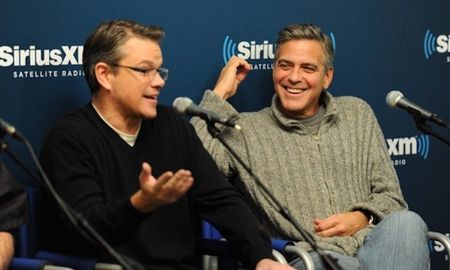 Matt Damon 'gan nhu sap khoc' khi duoc George Clooney cho hay vo ong mang thai - Anh 1
