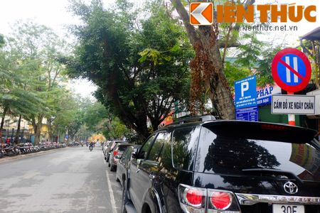 Duong pho Ha Noi thoang dang trong ngay do xe chan le - Anh 12